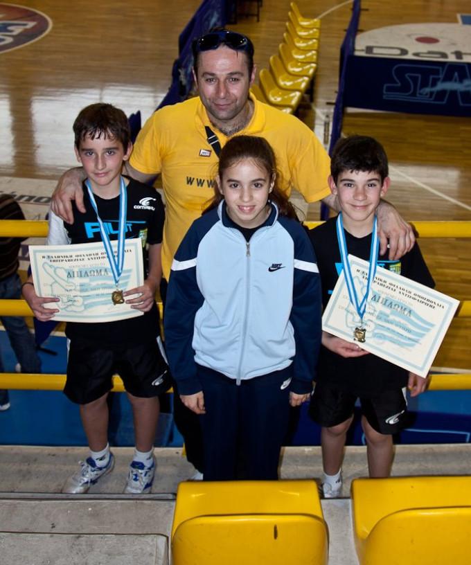Πινγκ Πονγκ:  επιστροφή από το Ανοικτό Πρωτάθλημα Πάτρας με δύο μετάλλια !